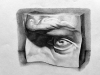 Edi Watkins, David's Eye - Cast Drawing, 2015, Graphite