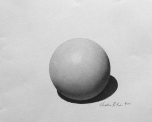 Christine kwon, Sphere, 2015, Graphite