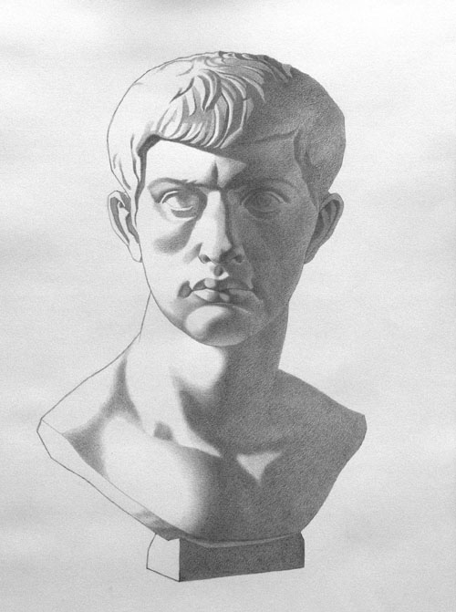 Michael A. Cooley, Marcus Brutus, 2012, Graphite, Independent Study