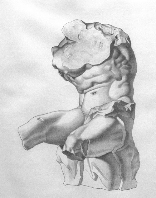 Michael A. Cooley, The Belvedere, 2012, Graphite. © M Cooley