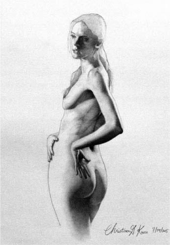 Christine Kwon, Figure, 2015, Graphite