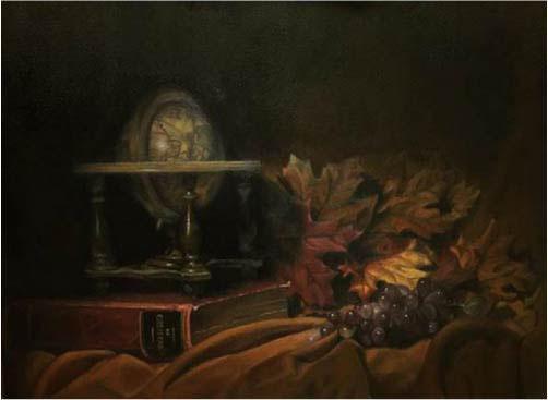 Cassidy Boyuk, Still Life-Perishables, 2017, Oil
